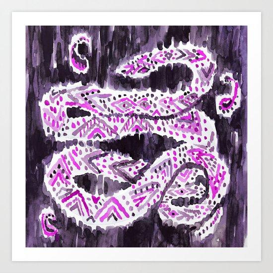Tribal Snake Art Print