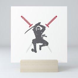 Ninja Samurai Sword Katana Cool Warrior Fighter Gift T-Shirt Mini Art Print
