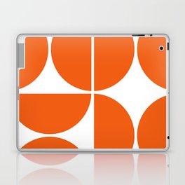 Mid Century Modern Orange Square Laptop & iPad Skin