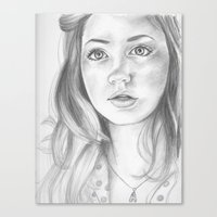 amy pond Canvas Prints featuring amy pond  by Jill Schell