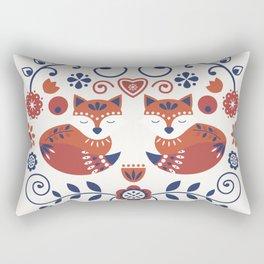 Scandi Folk Foxes Rectangular Pillow