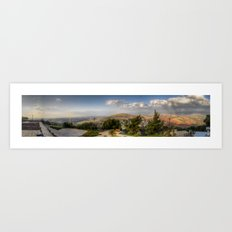 On The Israeli/Lebanon Border Panorama Art Print