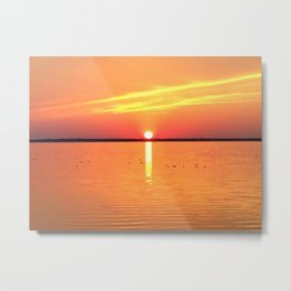 Sound Sunset Metal Print