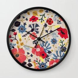 Summer Flowers - Pattern Wall Clock