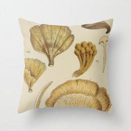 Naturalist Mushrooms Throw Pillow