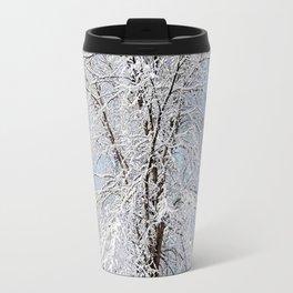 Snow Covered Tree Travel Mug