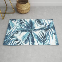 South Pacific palms II - oceanic Rug