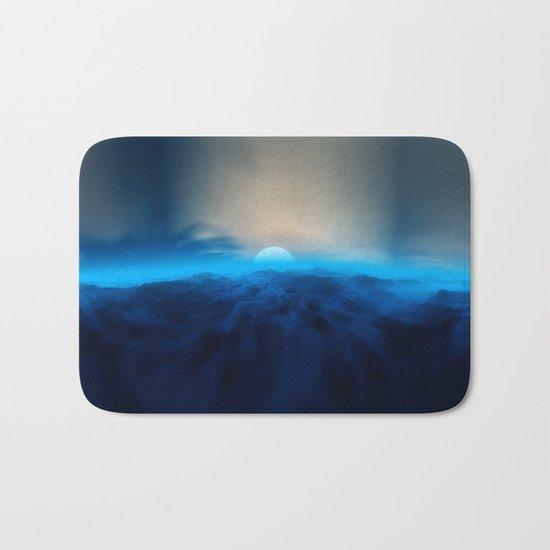 Blue #moon Bath Mat