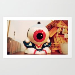 Samurai eye Art Print