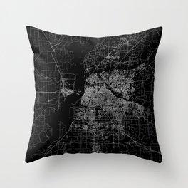 Memphis map Throw Pillow