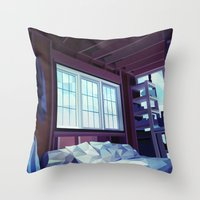 cabin Throw Pillows featuring Cabin by Kiana