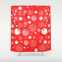 Bubblemagic - Red Shower Curtain
