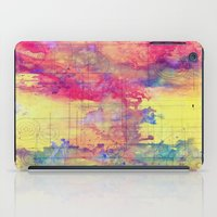world maps iPad Cases featuring maps by Emily Tumen