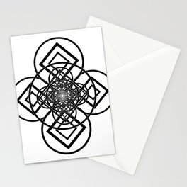 Diamonds Over Not Quite Spades B&W Stationery Cards