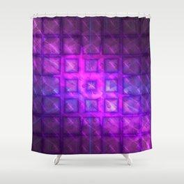 Celestial Rain Tiles Shower Curtain