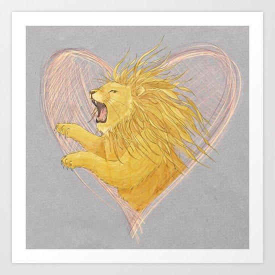 Lionheart Art Print