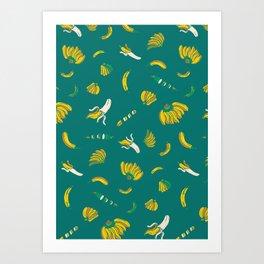Banana pattern Art Print
