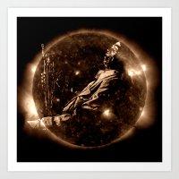 miles davis Art Prints featuring Miles Davis - Jazz´n away by ARTito