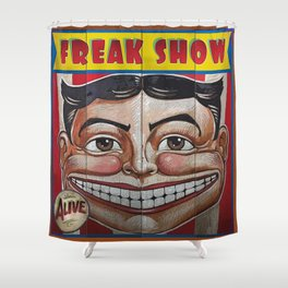 Freak Show- Funny Face Shower Curtain