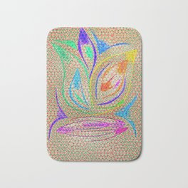 Colorful Lotus flower - uma releitura Bath Mat