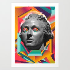 Psychedelic Face Art Print