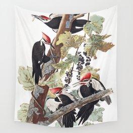 Pileated woodpecker edit, Birds of America, Audubon Plate 111 Wall Tapestry