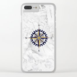 Ice Compass Clear iPhone Case