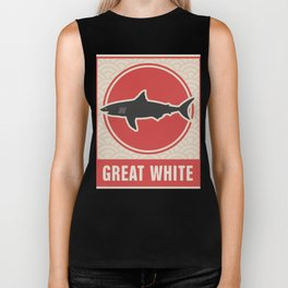 Vintage Japanese Great White Shark Biker Tank