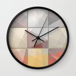 Abstract triangle art Wall Clock