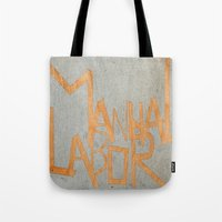 dancer Tote Bags featuring Dancer by Mahoney-Mahoney