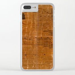 Map Of Albany 1818 Clear iPhone Case
