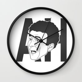 AH ! Denis Brogniart's famous gimmick (charcoal) Wall Clock