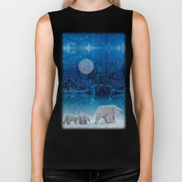 Arctic Journey of Polar Bears Biker Tank