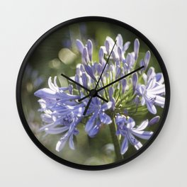 African Lily Bokeh Delight Wall Clock