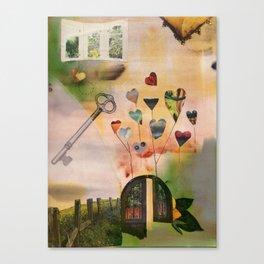 Hearts Door Canvas Print