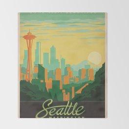 Vintage poster - Seattle Throw Blanket
