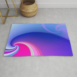 Ride the Wave (purple) Rug