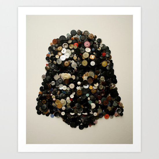 Darth Buttons Art Print