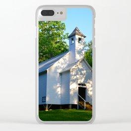 Cades Cove Baptist Church 1839 Clear iPhone Case