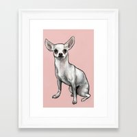 chihuahua Framed Art Prints featuring Chihuahua by Seni