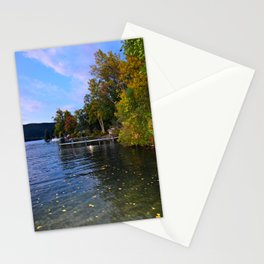 Autumn Arrives at the Lake Stationery Cards