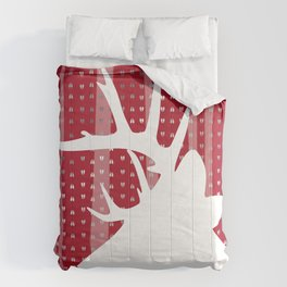 Eleghant Red Deer Holiday Design Comforters