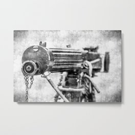 Vickers Machine Gun Vintage Metal Print