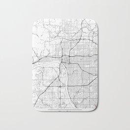 Tulsa Map White Bath Mat