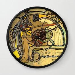 "Koloman (Kolo) Moser ""Ver Sacrum Poster"" Wall Clock"