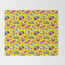 Old-times fun / Yellow Throw Blanket