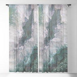 Amethyst Abstract Sheer Curtain