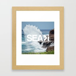 SEA>i | HEAVEN'S POINT Framed Art Print