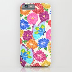 Butterflies and Flowers Slim Case iPhone 6s