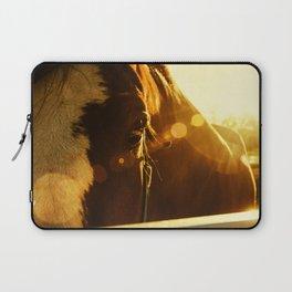 Evening Flare Horse Photograph Wall Art Laptop Sleeve